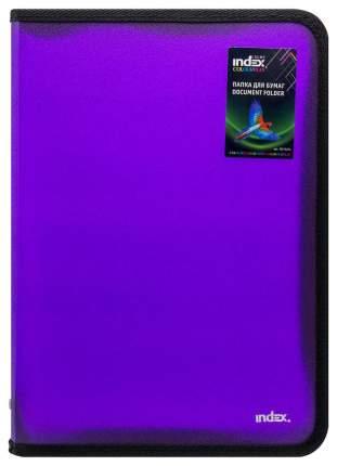 Папка на молнии с 3х сторон COLOURPLAY Light, ф. А4 325х230мм, 0,5мм прозрачная, фиолет...