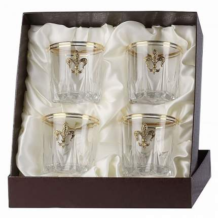 Набор бокалов для виски Город подарков Карат Лилии 4 шт. в пейсли 050203198