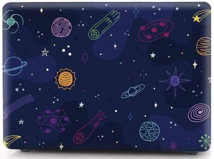 Чехол накладка пластиковая i-Blason Cover для Macbook Air 13 (Cartoon Space)