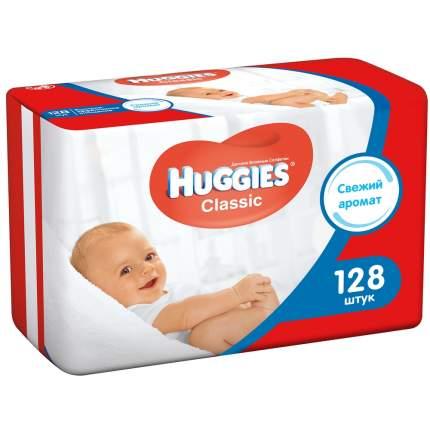 Детские влажные салфетки Huggies classic, 128 шт.