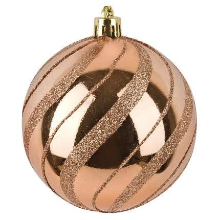 Шар на ель Monte Christmas Медная вьюга N6380659 8 см 1 шт.
