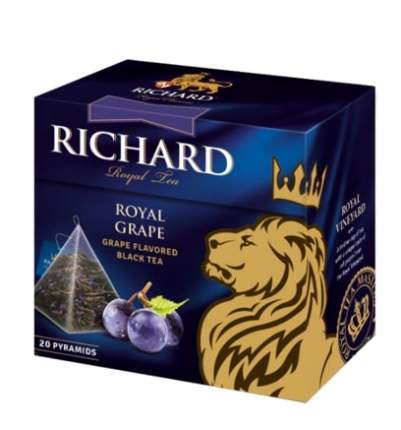 Чай Richard Royal Grape черный с виногадом 20 пирамидок