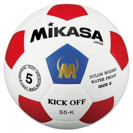 Футбольный мяч Mikasa S5-K №5 white/red
