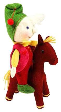 Три К Гном на Пони Мягкая игрушка ручной работы из тонкорунной шерсти мериноса