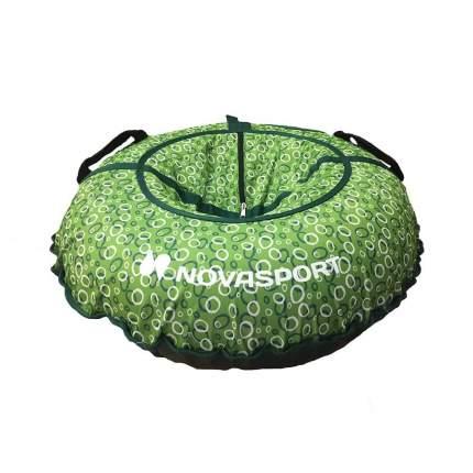 Тюбинг NovaSport 90 см тент без камеры CH030.090 зеленый/белые зеленые кольца