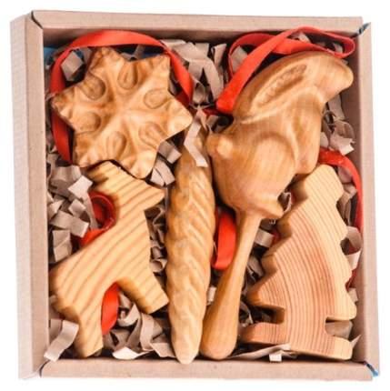 Набор елочных игрушек Томик Красный 4022359 14 см 5 шт.