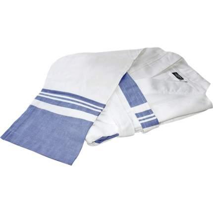 Халат «Mary» (Мэри), белый/голубой, размер L
