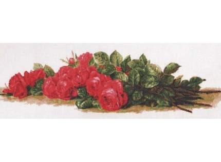 Набор для вышивания Палитра Розы на столе