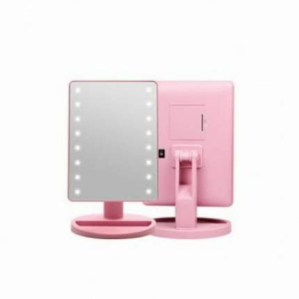 Косметическое зеркало с подсветкой Large Led Mirror (розовый)