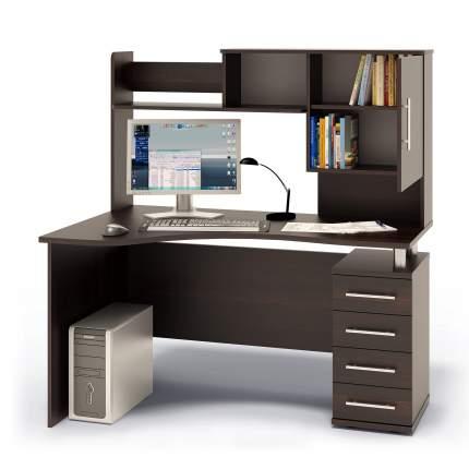Компьютерный стол в комплекте СОКОЛ КСТ-104.1П+КН-14 140x86x147, дуб венге
