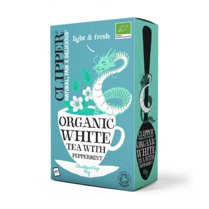 Чай белый Clipper с мятой органик  26 пакетиков