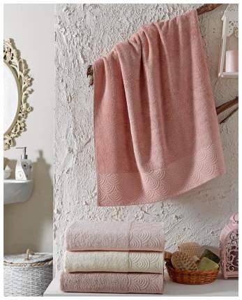 Набор полотенец DO&CO rainbow бежевый, розовый