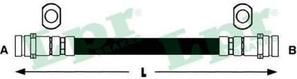 Шланг тормозной системы Lpr 6T46427