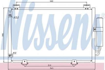 Радиатор кондиционера Nissens 94581