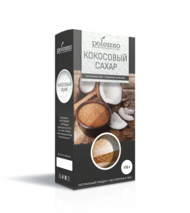 Кокосовый сахар Полеззно 100 г
