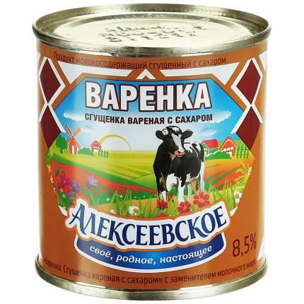 Сгущенка вареная Алексеевская варенка 8.5% с сахаром 370 г
