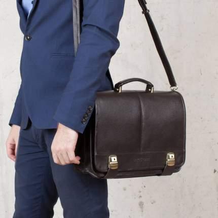 Портфель мужской кожаный Lakestone Canford 943029/BL черный