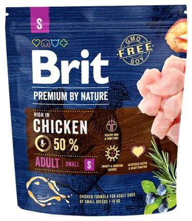Сухой корм для собак Brit Premium By Nature Adult S, для мелких пород, курица, 1кг