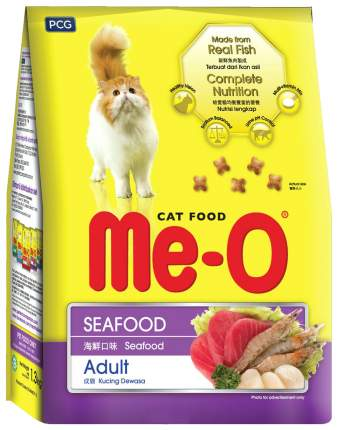 Сухой корм для кошек Me-O Adult, морепродукты, 1,2кг