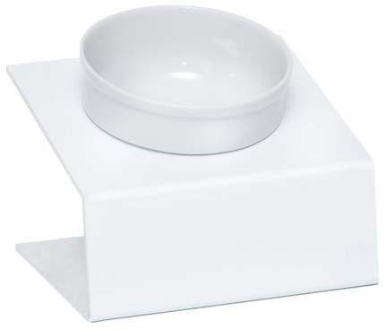 Одинарная миска для кошек Artmiska, керамика, пластик, белый, серый, 0.35 л