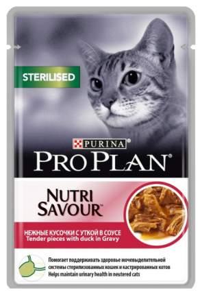 Влажный корм для кошек PRO PLAN Nutri Savour Sterilised, утка, 24шт, 85г