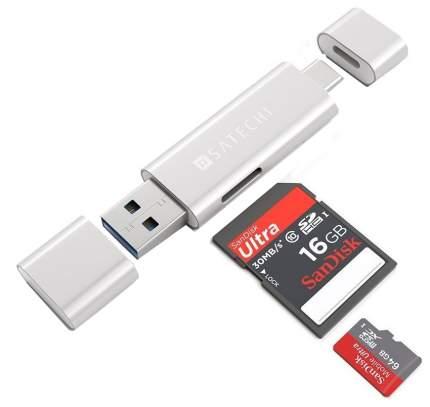 Устройство для чтения карт памяти Satechi Aluminum Type-C USB 3.0 and Micro/SD Card Reader