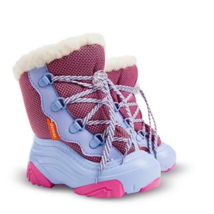 Сапоги Demar snow mar 2 a розовый натуральная овчина шнурки р 26-27