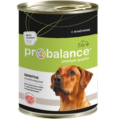 Корм консервированный для собак Probalance Sensitive Корм с ягненком, 850 гр