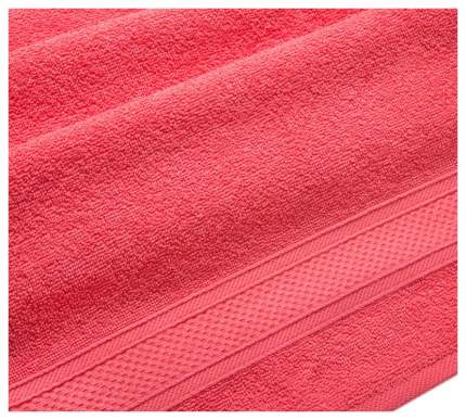 Полотенце махровое с бордюром (коралловое) 100х180