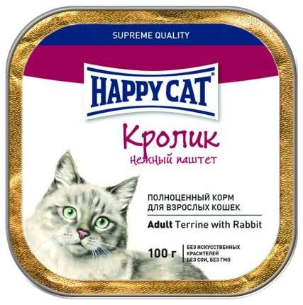 Консервы для кошек Happy Cat, кролик, 100г
