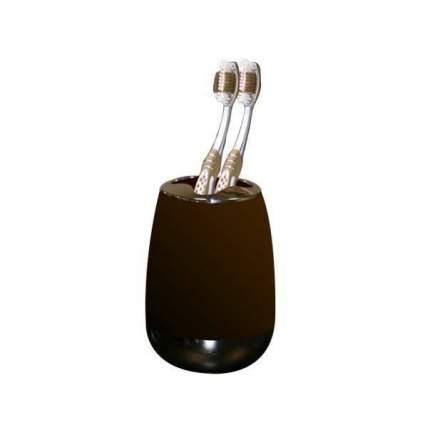 Стакан для зубных щеток с каучуковым покрытием   пластиковый Цвет Шоколад