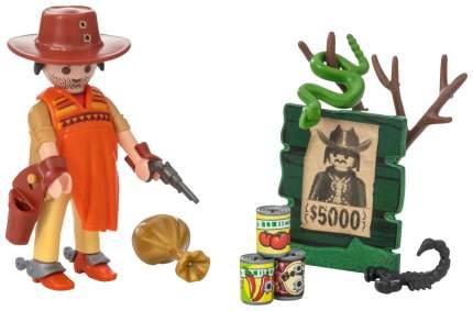 Игровой набор Playmobil Экстра-набор:Ковбой с постером Разыскивается