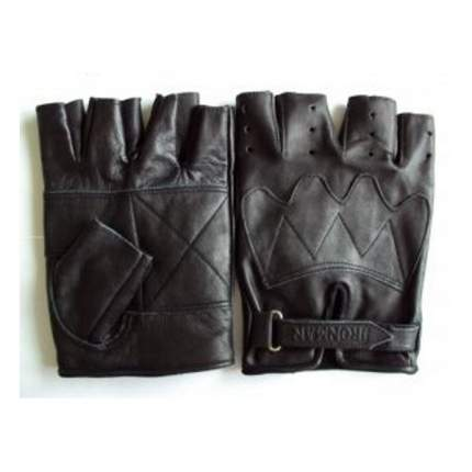 Перчатки для фитнеса и тяжелой атлетики Ironman универсал черные M