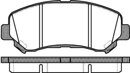Комплект тормозных дисковых колодок Remsa 1318.00