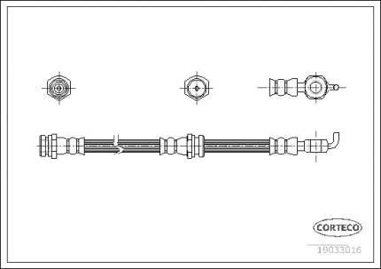 Шланг тормозной системы CORTECO 19033016