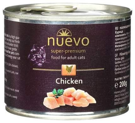 Консервы для кошек Nuevo Adult, курица, 200г