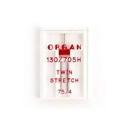 """Иглы """"Organ"""" двойные супер стрейч №75/4 для БШМ упак,1 игла"""