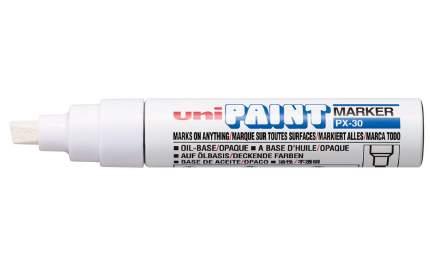 Маркер перманентный Uni Paint PX-30 4-8,5мм клиновидный (белый, 1 штука)