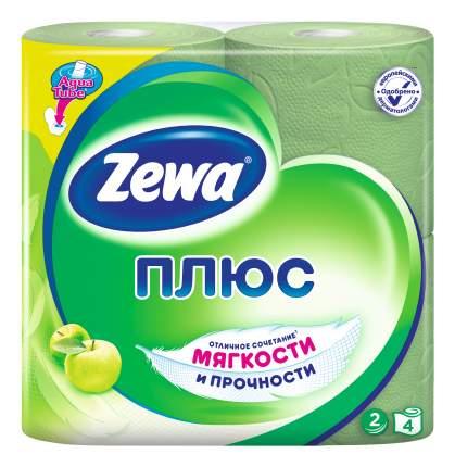Туалетная бумага Zewa Плюс Яблоко, 2 слоя, 4 рулона