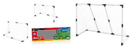 Футбольные ворота 1Toy ч/б 2-в-1: большие 139,5х91,3х48см, или двое маленьких 89,5х62х44см