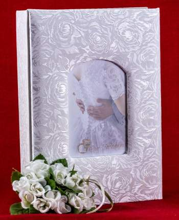 Фотоальбом свадебный на 120 фото 10х15 см и 40 фото 15х21 см, Французское окно