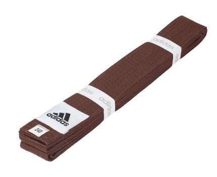 Пояс для единоборств Adidas Club коричневый, 300 см