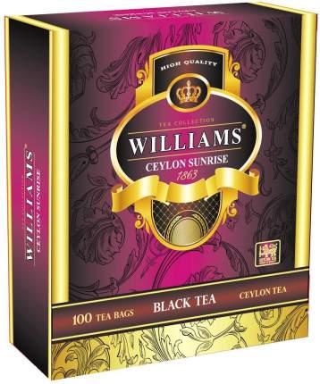 Чай черный Williams ceylon sunrise 100 пакетиков