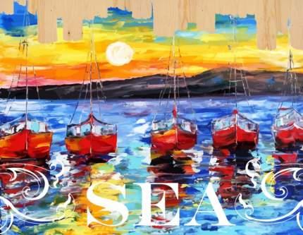 Картина по номерам на дереве Color Kit Ласковое море