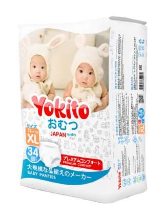 Подгузники-трусики Yokito XL (12+ кг), 34 шт.
