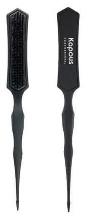 Расческа Kapous Professional узкая трехуровневая, черная, 1 шт