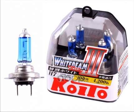 Лампа галогенная Koito H7 Whitebeam 4200K 12V 55W (100W), эффект ксенона, 2 шт, P0755W