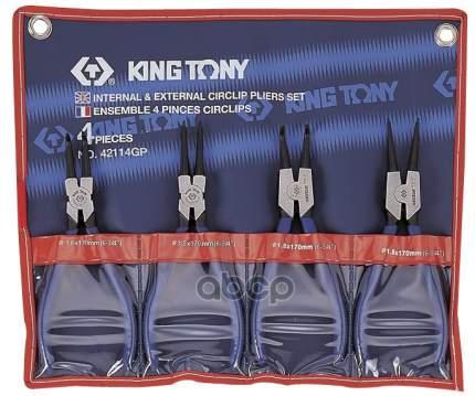KING TONY Набор съемников стопорных колец, 4 предмета 42114GP