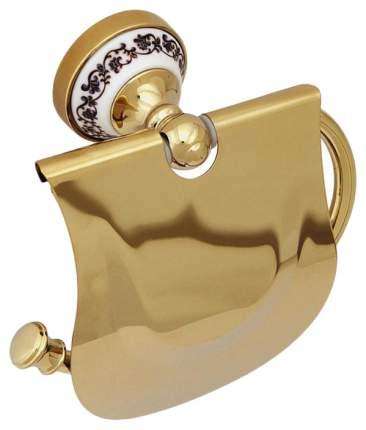 Держатель для туалетной бумаги Fixsen Bogema Gold FX-78510G с крышкой