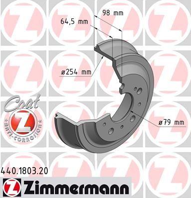 Тормозной барабан ZIMMERMANN 440.1803.20